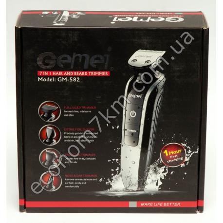 GM-582 Набор 7 в 1 для стрижки волос и бороды Gemei