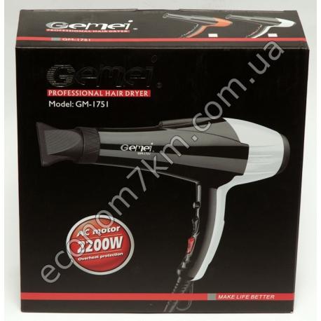 GM-1751 Фен для волос Gemei 2200W