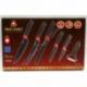 SF-0102 Набор ножей + экономка 6 в 1 SWISS FAMILY