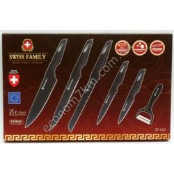 SF-820 Набор ножей + экономка 6 в 1 SWISS FAMILY