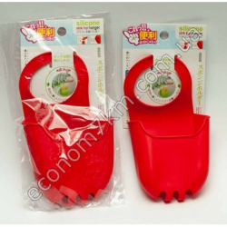 S1416 Карман силикон для губки и мыла (вешать на кран) SM89