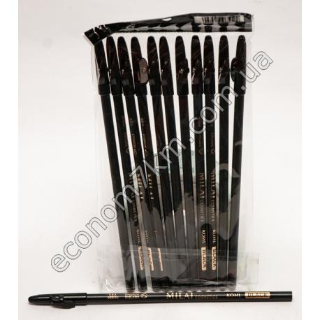 i45 карандаш для глаз черный с точилкой .в упаковке 12шт(цена за упаковку)
