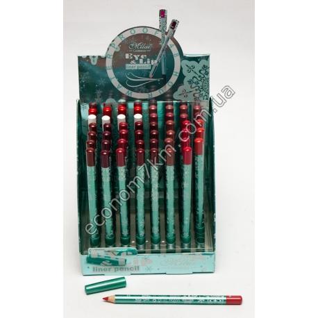 i65 карандаш для губ матовый.в упаковке 48шт.(цена за упаковку)