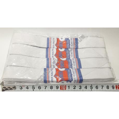 S1946 Резинка для трусов широкая белая 25 мм (4 шт. в уп.) (цена за упаковку)
