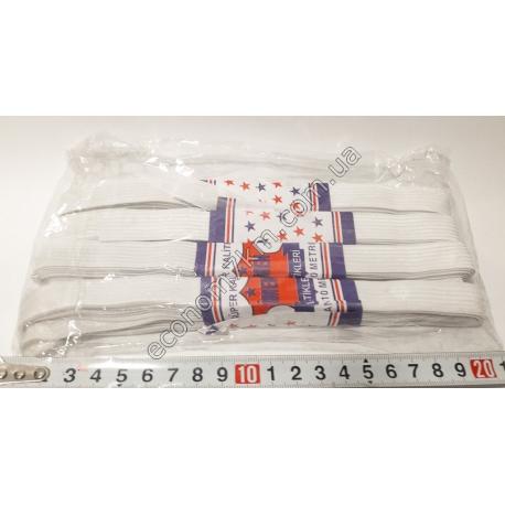 S1947 Резинка для трусов средняя белая 15 мм (4 шт. в уп.) (цена за упаковку)