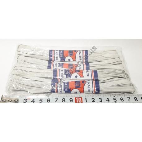 S1949 Резинка для трусов тонкая белая 7 мм (4 шт. в уп.) (цена за упаковку)