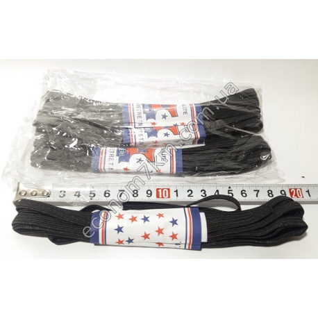S1950 Резинка для трусов тонкая чёрная 7 мм (4 шт. в уп.) (цена за упаковку)
