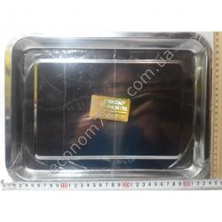 S1991 Поднос металл из нержавейки АВГ (35 х 25 см)