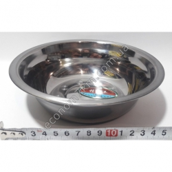 S2007 Миска железная из нержавейки АВГ (диаметр 18 см, высота 5 см)