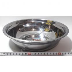 S2012 Миска железная из нержавейки АВГ (диаметр 28 см, высота 7 см)