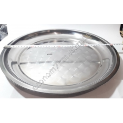 S2031 Поднос нержавейка (диаметр 40 см) АВГ