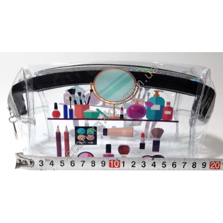 S1844 S7 Косметичка прозрачная (17 х 11 х 7 см)