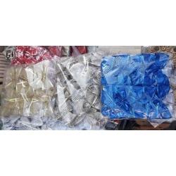 S1906 Бантики Новый Год сетка (10 шт. в уп.) (цена за упаковку)