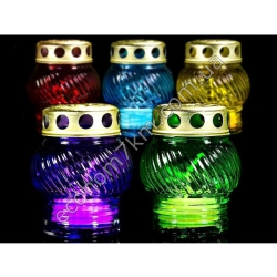 S2101 Лампадка стекло большое (горит 12 часов) (20 шт. в уп.) (цена за упаковку)