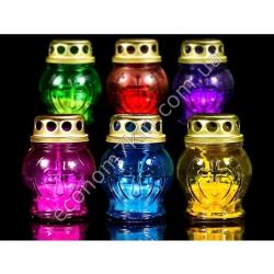 S2102 Лампадка стекло крестик (горит 8 часов) (28 шт. в уп.) (цена за упаковку)