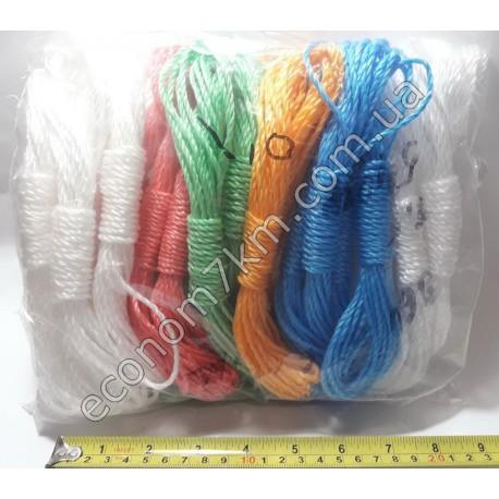 S283 веревка бельевая (сад) цветная .7м