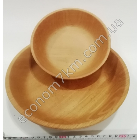 S2184 Миска деревянная бук (22 см - диаметр)