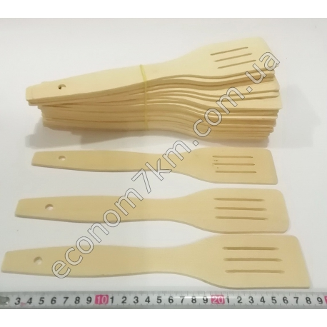 S2205 Лопатка деревянная с прорезом (5 мм - толщина, 28 см - длина)