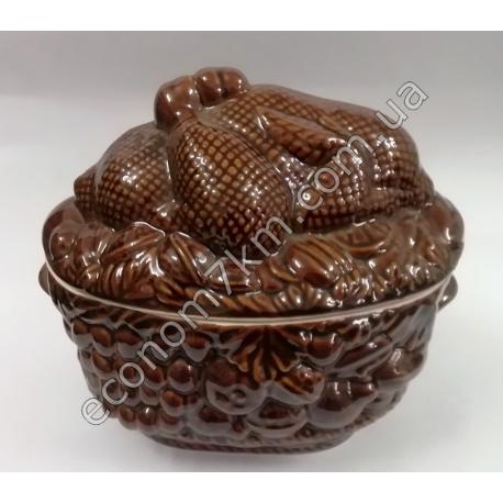 S2252 Жаровня Курица (3,5 л) керамика