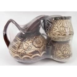 S2272 Молочный набор Весна (кувшин + 4 чашки) керамика