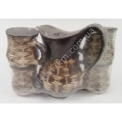 S2273 Молочный набор Лоза (кувшин + 4 чашки) керамика