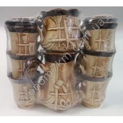 S2275 Сервиз Ажур (чайник + сахарница + 6 чашек) керамика