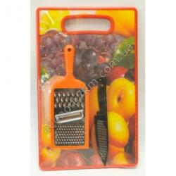 S2313 Кухонный набор: разделочная доска, тёрка, нож Вах