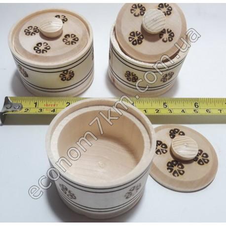 S384 Баночка для хранения деревянная( соль..перец)