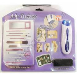 S2963 Эпилятор Твизер My-Twizze + маникюрный и макияжный набор