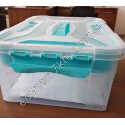 S3011 Контейнер пластик (10 л) (без вкладыша, на защёлках)