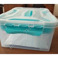 S3012 Контейнер пластик (10 л) (с вкладышем, на защёлках)