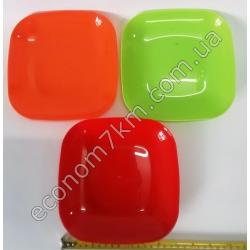 S3019 Тарелка пластик детская без декора (18,5 х 18,5 см)