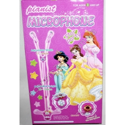 """S3041 Микрофон двойной (стойка) """"Принцессы"""" в коробке D01818(5861)"""
