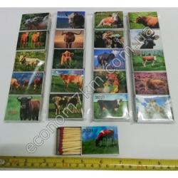 S3325 Набор спички магнит 19 картон (19 х 5 см) Новый Год 2021 (5 шт. в наборе) (цена за набор)