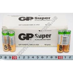 S3378 Батарейки GP Super ALKALINE AA 1.5V. Палчековые.
