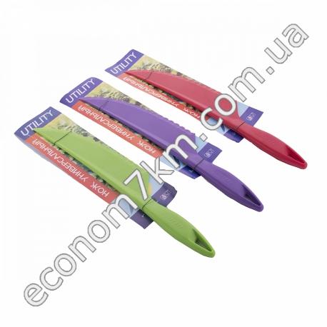 S294 Нож универсальный утилит. Пластик. 28 см.длина.для нарезки сыра, тортов.