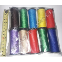 558 нитка копрон цветная. В уп. 10 шт. (цена за упаковку)