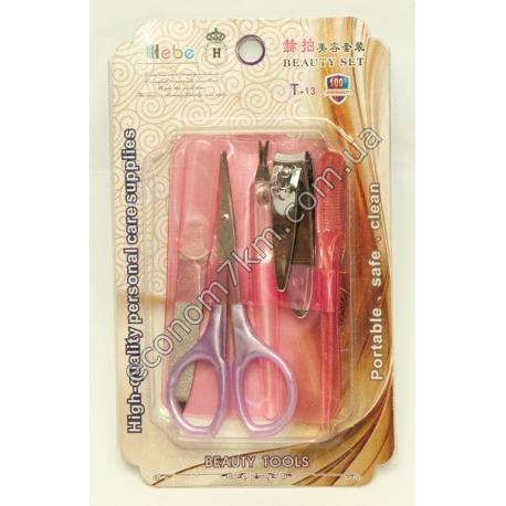 S604 Набор для ногтей 5 шт. (ножницы, пилочка, кусачки, кутикула)