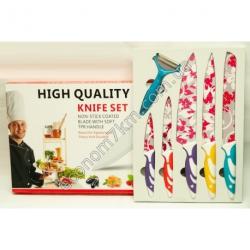 S632 Набор метало_ керамика ножей 5 шт. + овощечистка (цена за упаковку)
