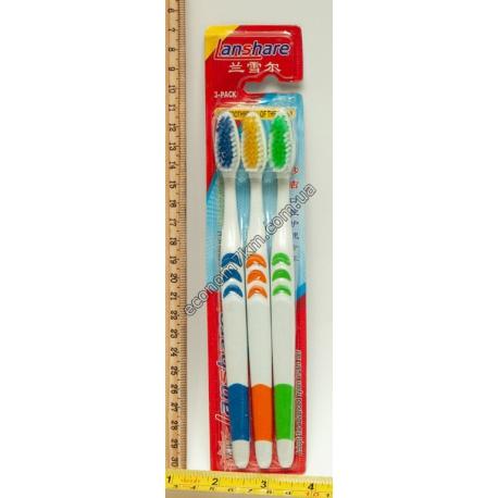S752 Зубные щётки (3 шт.) (цена за упаковку) одинаковые