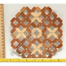 S758 Подставка бамбук под горячее (17 х 18 см)
