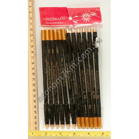 S792 Карандаши для глаз чёрный .(12шт. в уп.) (цена за упаковку)